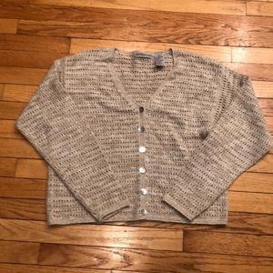 NWOT NORTHERN ISLES LINK KNIT CARDIGAN